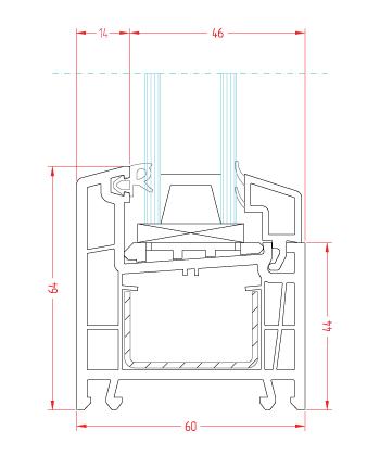 конструктивная ширина - 60 мм.